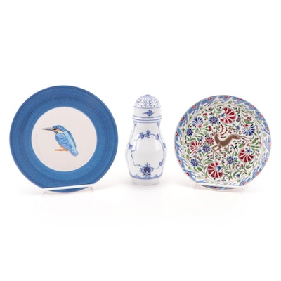 Royal Copenhagen Porcelain Shaker with Decorative Ceramic Plates