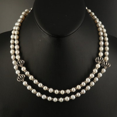 Lagos Sterling Pearl Necklace