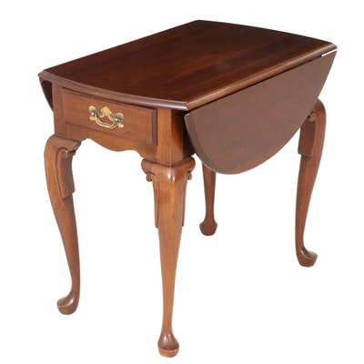 Queen Anne Style Cherrywood Pembroke Table, Late 20th Century