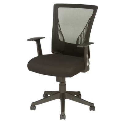 "Brenton Studio ""Radley"" Black Mesh Mid-Back Task Chair"