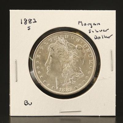 1882-S Uncirculated Morgan Silver Dollar