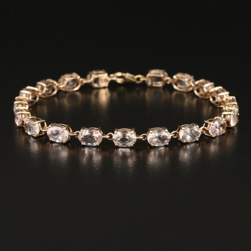 10K Morganite Line Bracelet