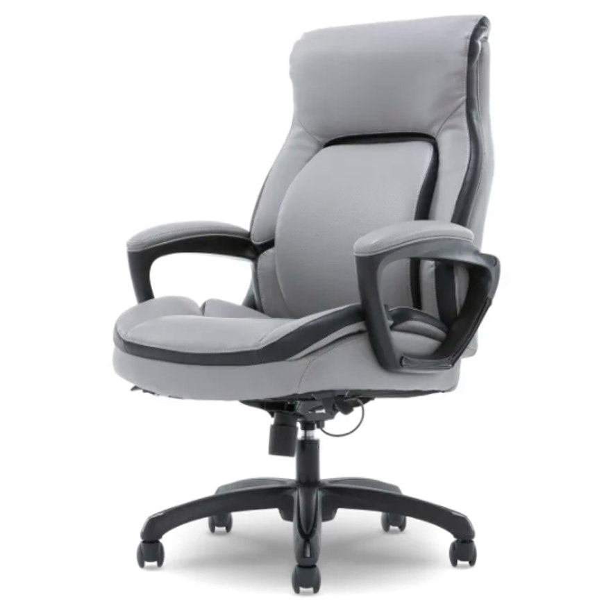 """Shaquille O'Neal """"Amphion"""" Grey Bonded Leather High-Back Executive Chair"""