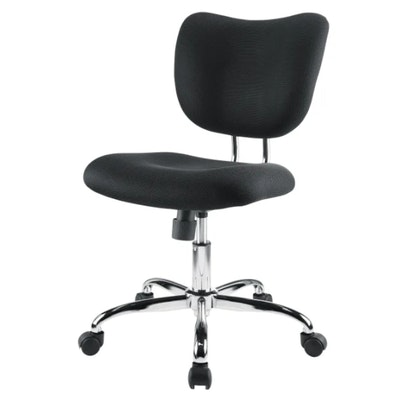 "Brenton Studio ""Jancy"" Black Mesh Fabric Low-Back Task Chair"