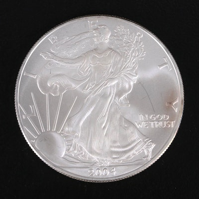 2004 $1 American Silver Eagle Bullion Coin
