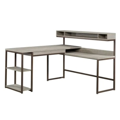 """Sauder """"Manhattan Gate"""" Contemporary L-Shaped Desk With Wireless Charger"""