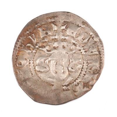 "English Hammered Silver ""Long Cross"" Penny of King Edward I, ca. 1280"