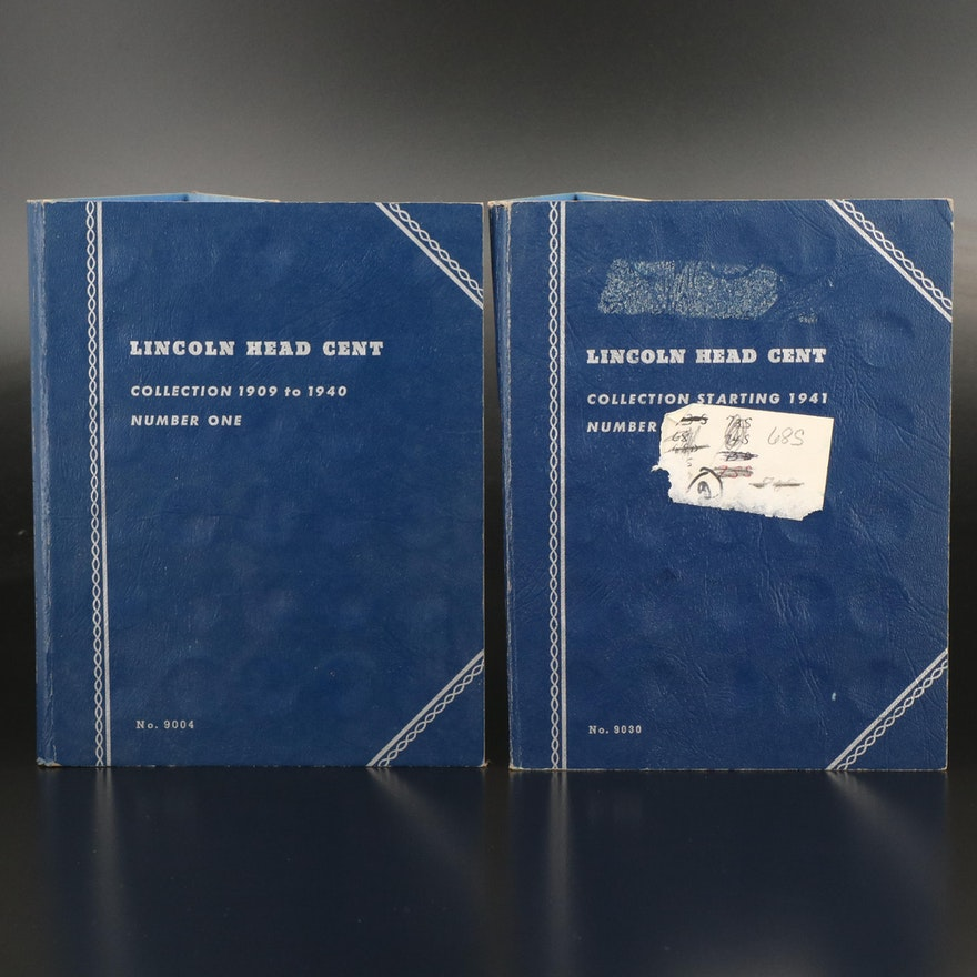 Two Whitman Binders of Lincoln Cents