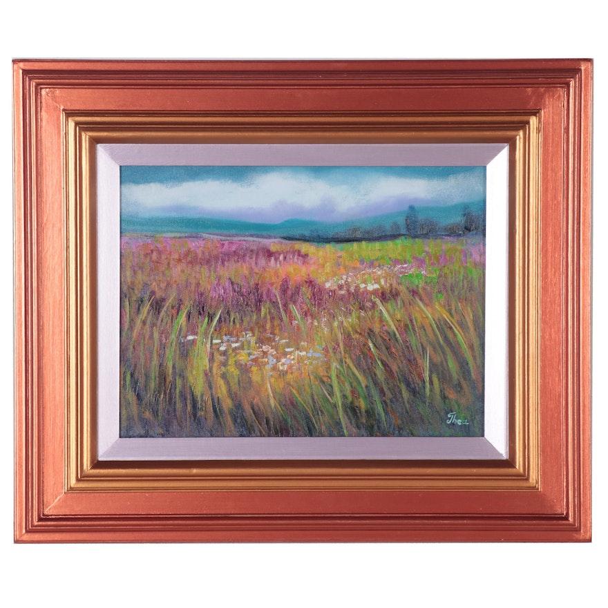 "Thea Mamukelashvili Oil Painting ""Landscape,"" 2021"