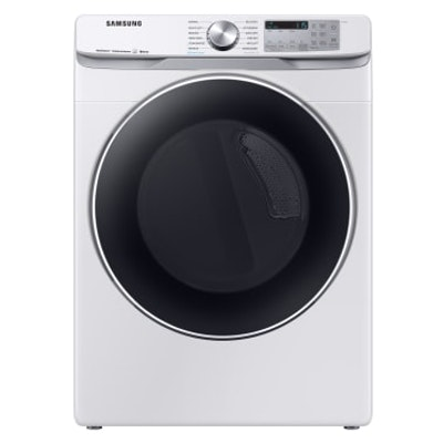 Samsung White 7.5  Cu. Ft. Smart Gas Dryer with Steam Sanitize and Sensor Dry