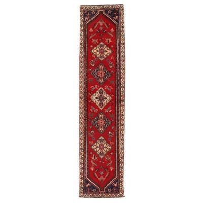 2'6 x 10'7 Hand-Knotted Northwest Persian Pictorial Carpet Runner