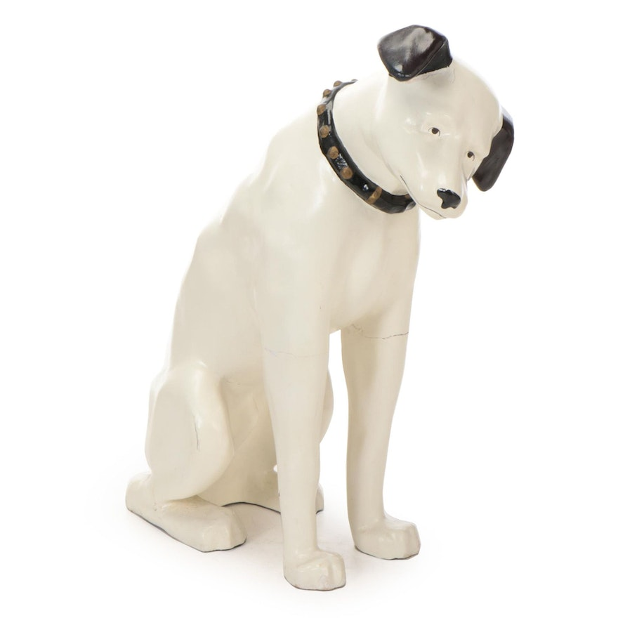 """Nipper"" RCA Advertising Mascot Dog Composite Store Display, Mid-20th Century"