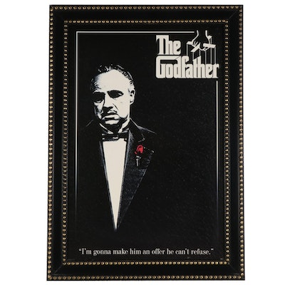 """The Godfather"" Movie Offset Lithograph Print Movie Poster"