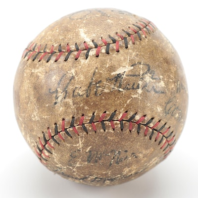 1930s Babe Ruth, Lou Gehrig, Connie Mack, and Other Stars Signed Baseball