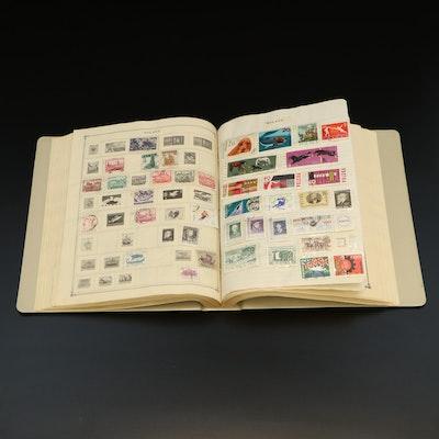 International Stamp Collection in Scott's Modern Album, Mid 20th Century