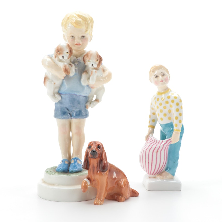 """Royal Doulton """"Lights Out"""" Bone China Figurine with Others"""