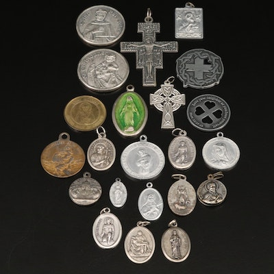 St. Christopher, Cross and Religious Pendants