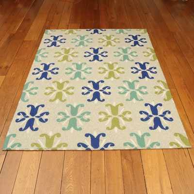 "5' x 7'6 Hand-Tufted Kaleen ""Escape"" Indoor/Outdoor Area Rug"