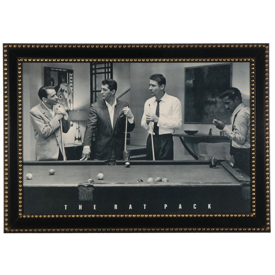 """Offset Lithograph Poster """"The Rat Pack"""""""
