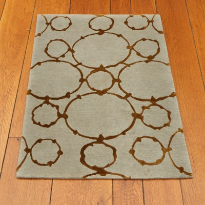 2' x 3' Machine Made Axminster Geometric Accent Rug