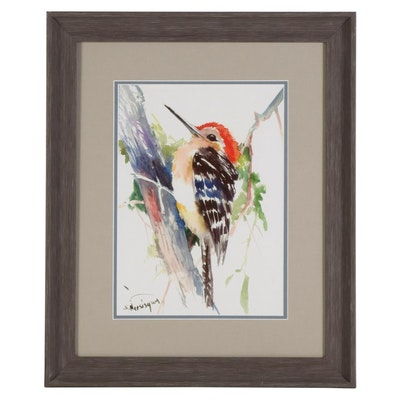 "Giclée after Suren Nersisyan ""Red Headed Woodpecker"""