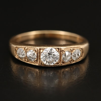 Vintage Style 14K Diamond Ring