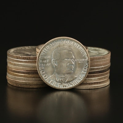 Roll of Twenty Booker T. Washington Commemorative Silver Half Dollars