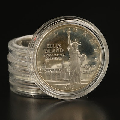 Five U.S. Mint Commemorative Silver Dollars