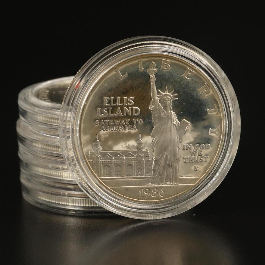 Five U.S. Mint Commemorative Silver Dollars