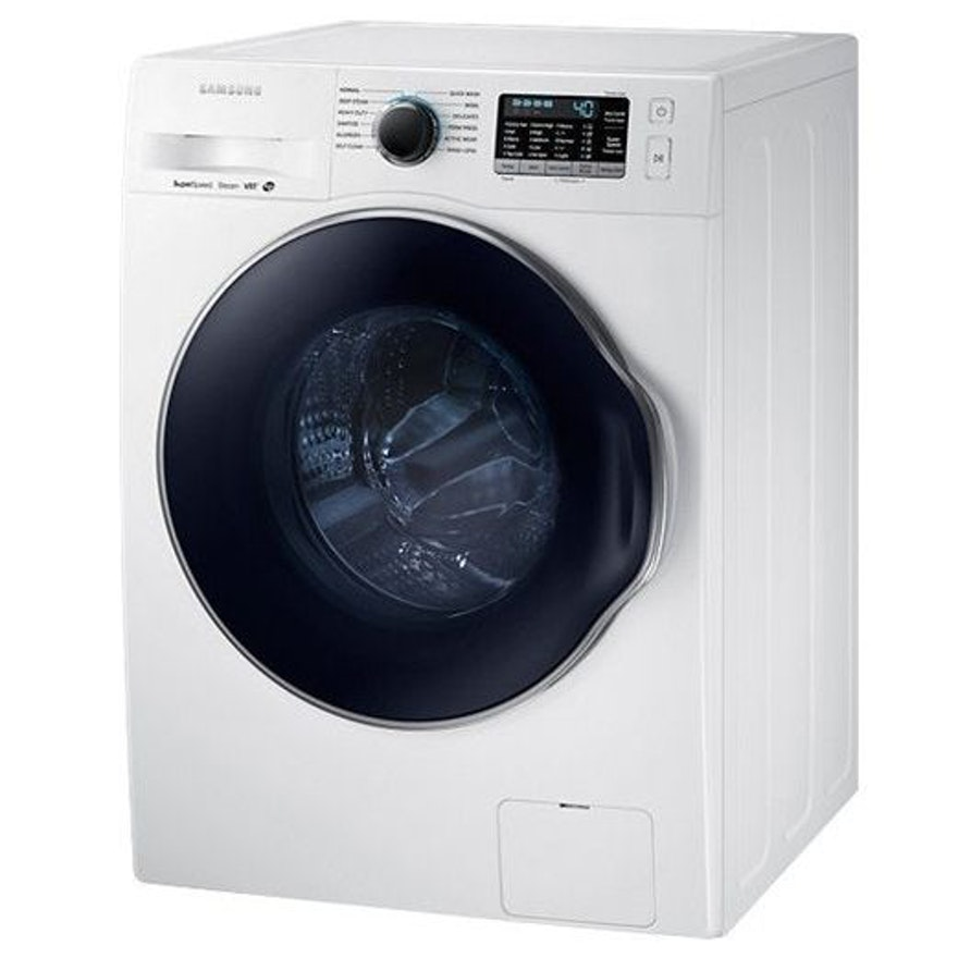 Samsung White 2.2 Cu. Ft. Compact Stackable Front Load Washer with Steam