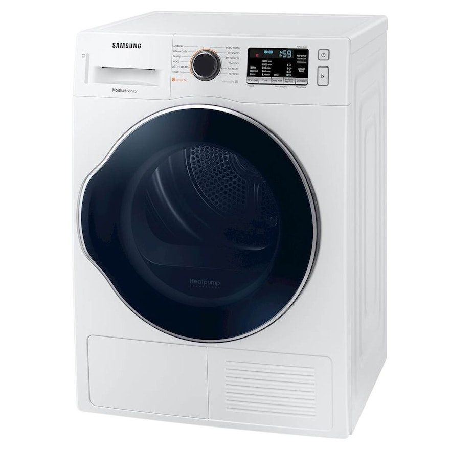 Samsung White 4.0 Cu. Ft. Compact Stackable Ventless Heat Pump Electric Dryer
