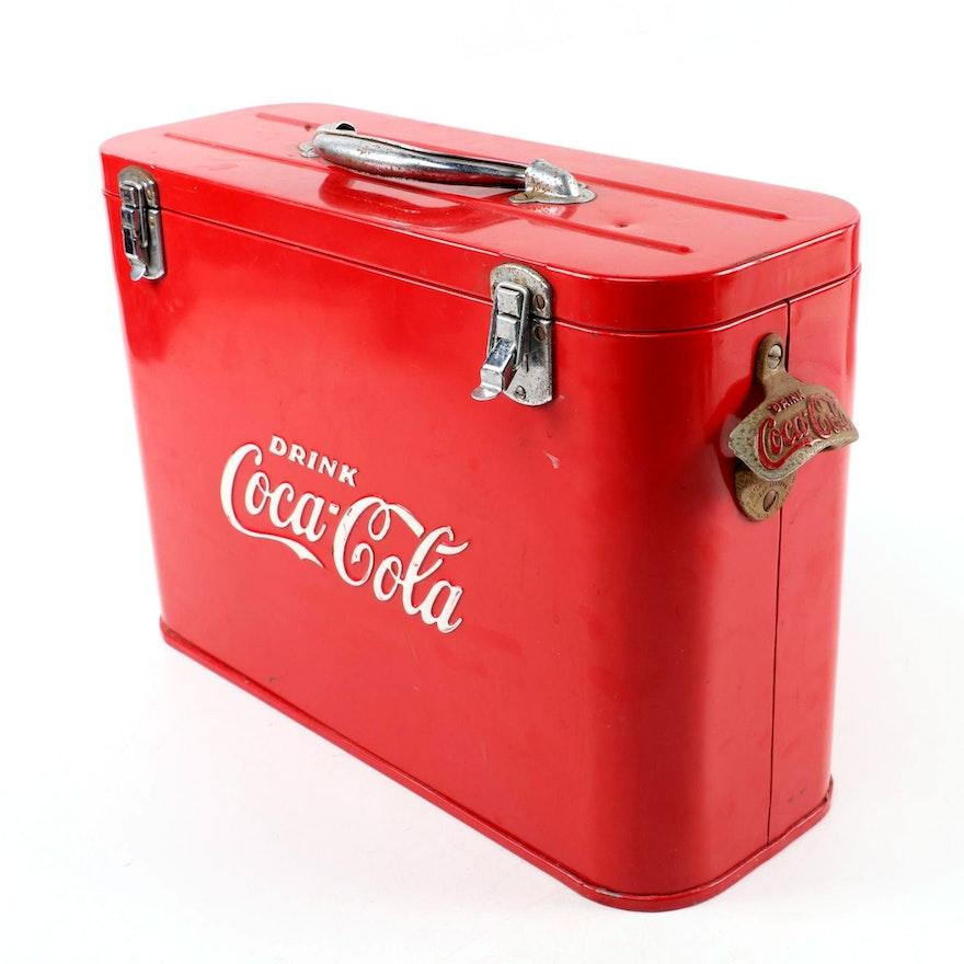 """Coca-Cola Cast Aluminum """"Airliner"""" Insulated Ice Chest, 1950s"""