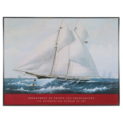 "Offset Lithograph Poster after ""Yacht Norseman of New York"""