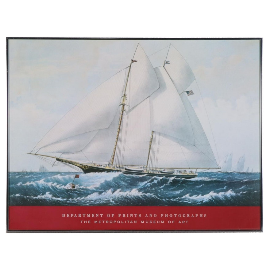 """Offset Lithograph Poster after """"Yacht Norseman of New York"""""""