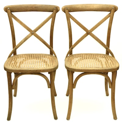 Pair of Bentwood Cane-Seated Chairs