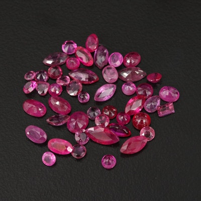 Loose 9.81 CTW Ruby Selection Featuring Various Shapes
