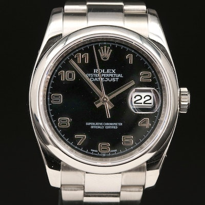 Rolex Datejust 116200 Stainless Steel Automatic Wristwatch