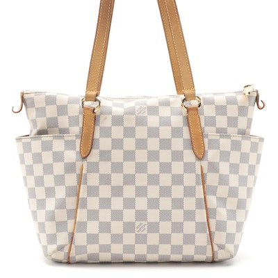 Louis Vuitton Totally PM Bag in Damier Azur Canvas with Leather Trim