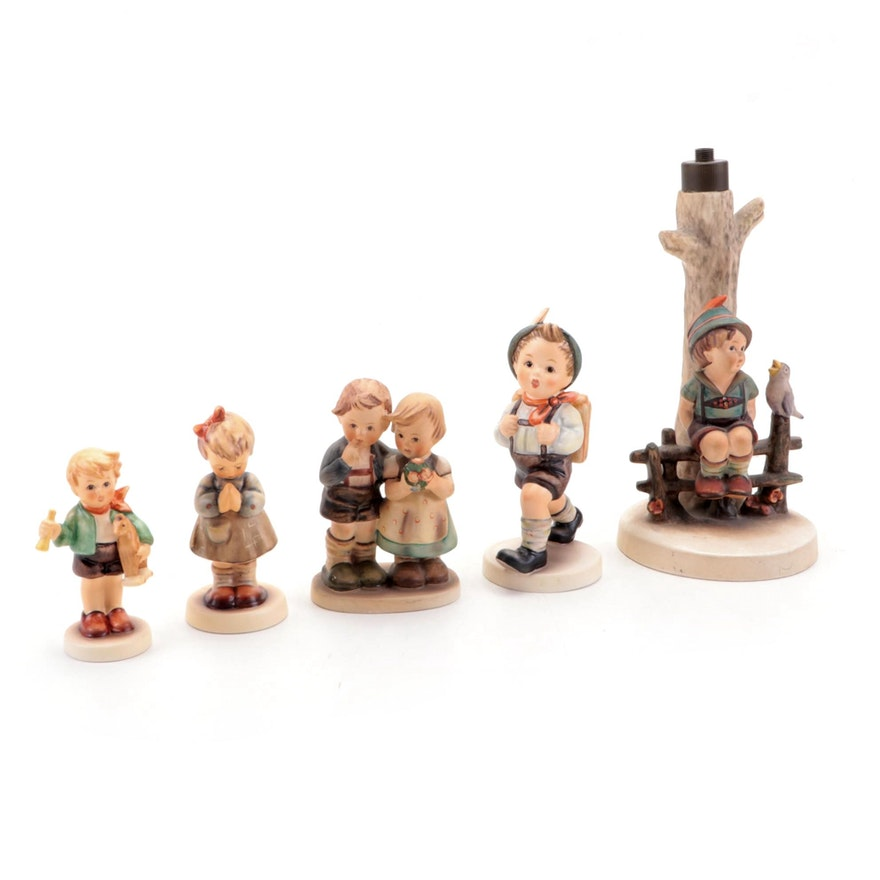 """Goebel """"We Congratulate,"""" """"Boy with Horse"""" and Other Hummel Porcelain Figurines"""