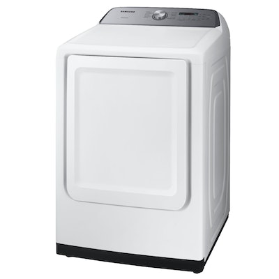 Samsung White 7.4  Cu. Ft. Electric Dryer with 10 Cycles and Sensor Dry