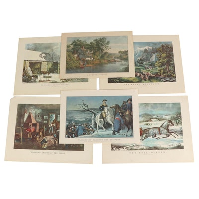 Offset Lithographs after Prints by Currier & Ives