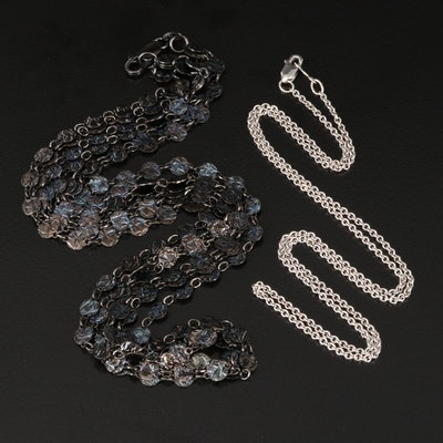 Sterling Multi-Strand and Cable Link Necklaces