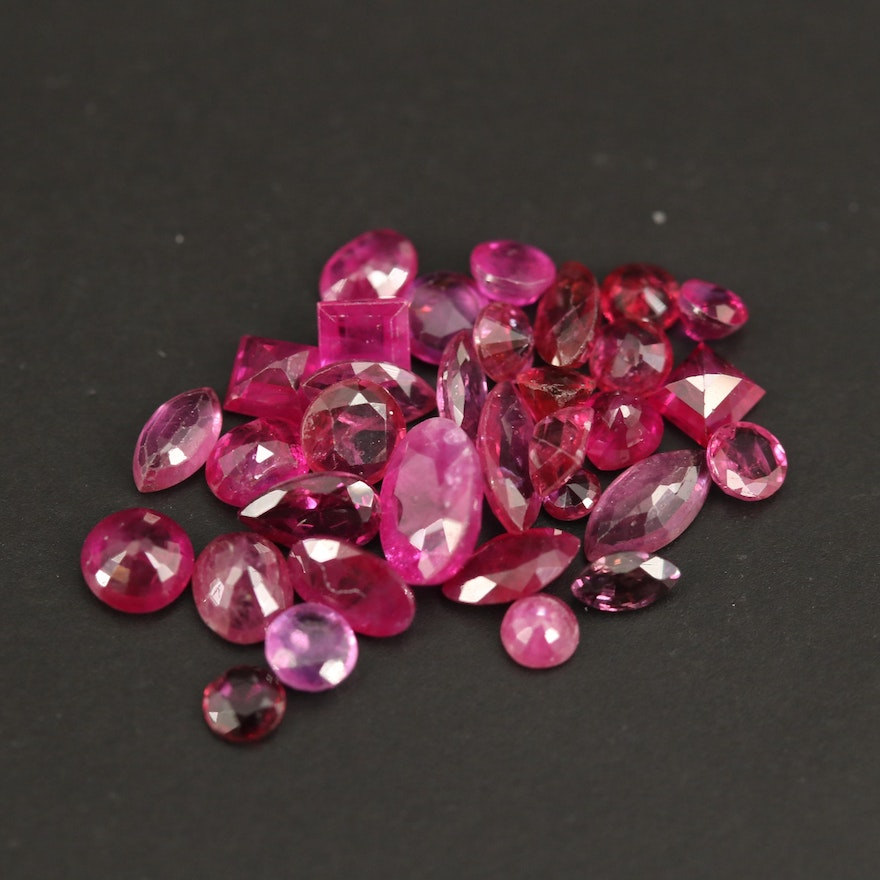 Loose 7.22 CTW Faceted Rubies