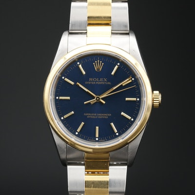 1999 Rolex Oyster Perpetual 18K Gold and Stainless Steel Automatic Wristwatch