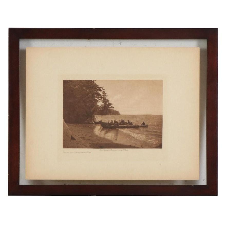"""Edward S. Curtis Photogravure """"Shores of Shoalwater Bay,"""" circa 1912"""