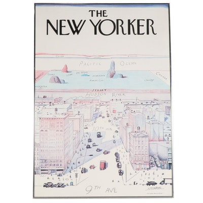 "Offset Lithograph after Saul Steinberg ""View of the World From 9th Avenue"""