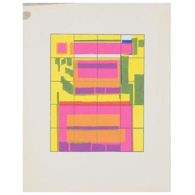 Walter Stomps Abstract Serigraph