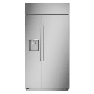 "Monogram 42"" True Stainless 24.4 Cu Ft. Built-In Side-by-Side Smart Refrigerator"