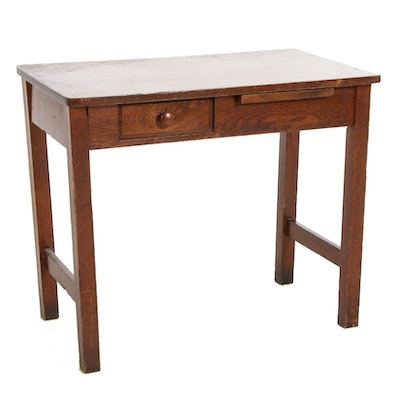 Arts and Crafts Child's Oak Desk, Early to Mid 20th Century