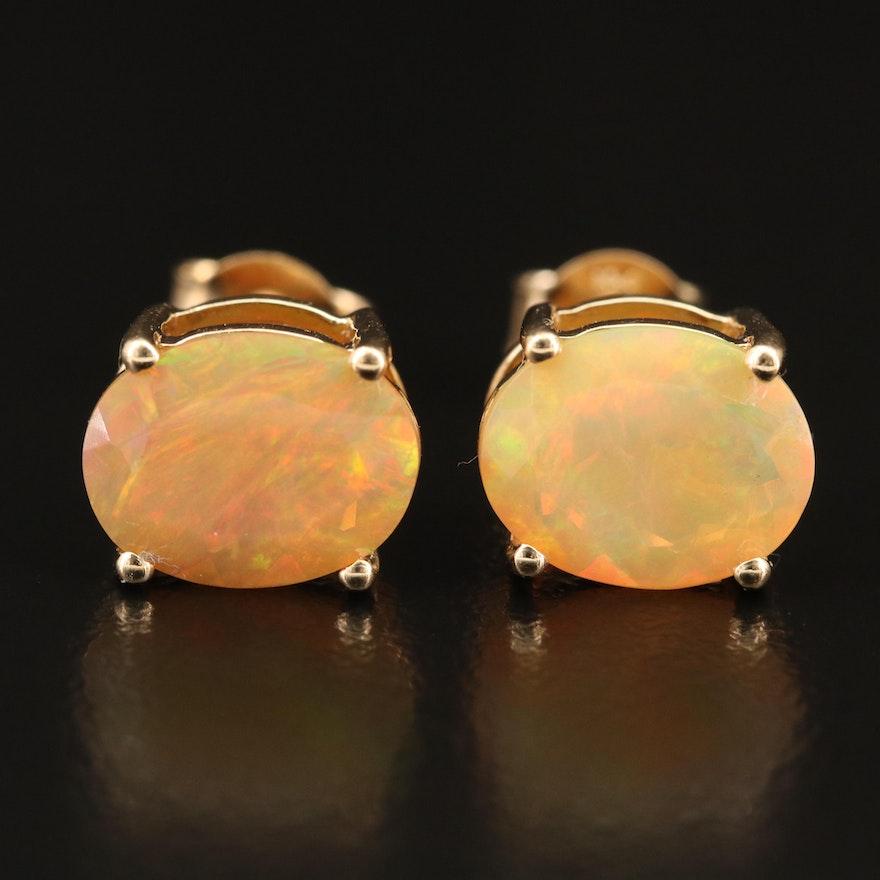 10K Opal Stud Earrings
